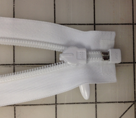 White Heavy Weight SEPARATING Invisible Zippers - 20