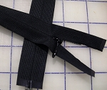 Black Heavy Weight SEPARATING Invisible Zippers - 20