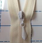 WHITE Tear Drop Reverse Pull for #5 NYLON Zipper