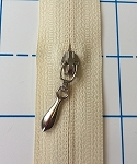 Tear Drop Reverse Pull Nickel #5 Coil Zipper