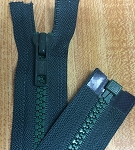 Medium Green YKK #5 Molded - 26 or 32