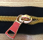 Extra Pulls for Gold Shiny Coil Zipper Yardage