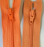 BRIGHT ORANGE #3 Finished Zipper