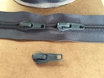 Dark Gray Upholstery Zipper - 25 yards + 35 pulls
