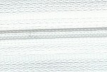 White  #3 Zipper - 25 yards