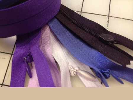"100"" #2 Invisible Zippers -- PURPLES"