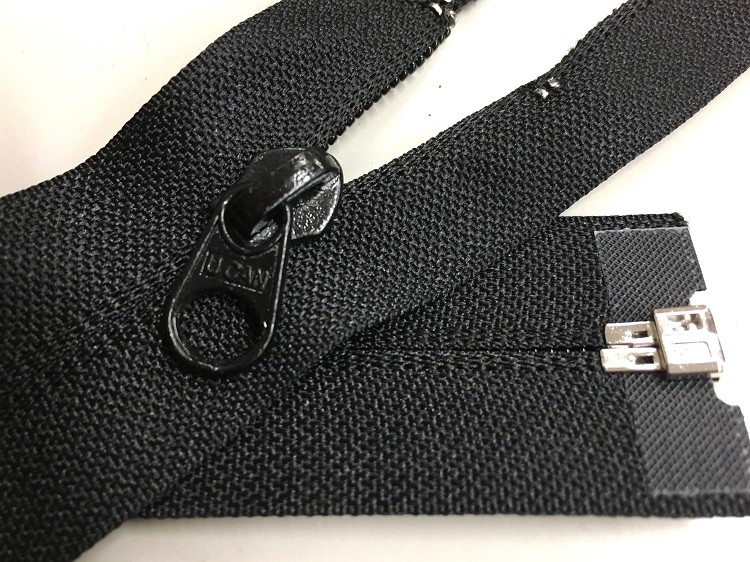 "Black #7 Reverse or Invisible Identical Coil Separating Zippers- 24""-32"""