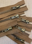 Trouser Zipper: Brown w/ Antique Brass 8