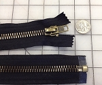 #10 Antique Brass on Black Jacket Zipper - 18
