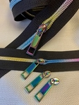 Shiny Rainbow Electro-Plated COIL Zipper Yardage