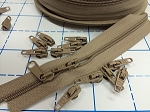TAN  #3 Coil Zipper - 50 yd. spool (Click on Picture for Sliders)