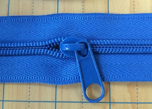 Royal Blue Long Pull for #5 NYLON Zipper
