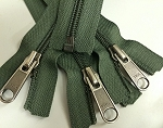 Olive YKK #5 Coil Separating Zipper