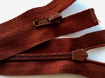 Rusty Red Reverse Separating Zipper