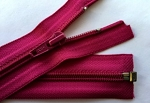 YKK magenta separating zipper