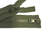 Olive Green #5 Molded 2-way Separating Zipper
