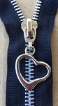 Open Heart Nickel #5 Zipper Pull
