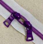 Shiny PURPLE Coil on WHITE Tape