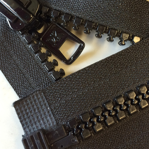 BLACK #10 Molded Marine Separating Zipper 8