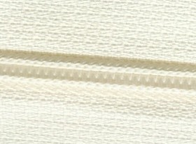 Ivory #5 Zipper - 25 yards