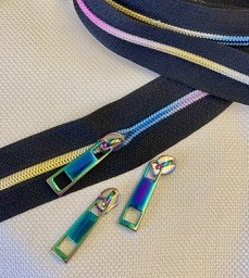 ShinyBaby or #3 Coil Rainbow Electro-Plated COIL Zipper Yardage