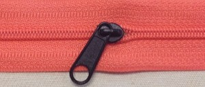 Black #5 Long Pull for Coil Zipper