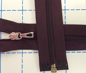 YKK deep plum separating zipper