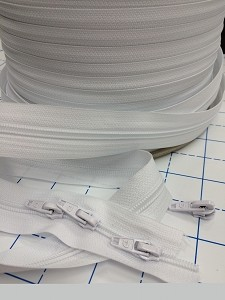 #5 White Coil Zipper Yardage