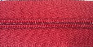 Red #5 Coil Zipper by the Yard
