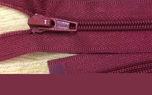 Dark Red Robe Zipper - 40""