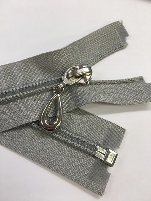 Silver Gray #5 Robe Separating Zipper