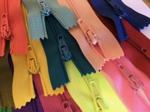 "10"" Multi Color Finished Zips - 25pcs."
