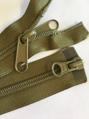 Olive 2-way Separating Zipper