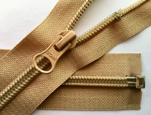 Khaki #5 Coil Separating Zipper