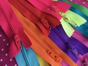 "22"" Multi Colored Craft Zippers"