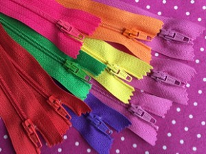 "24"" Multi Color Finished Zips - 25 pcs."