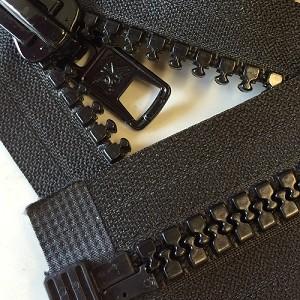 BLACK #10 Molded Marine Separating Zipper 8